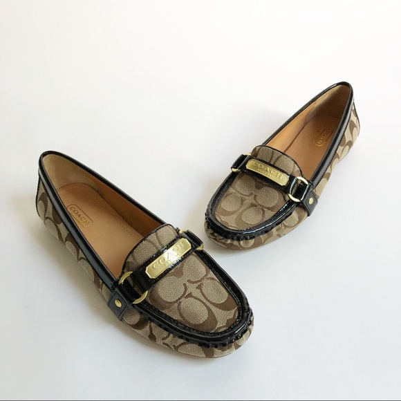 1768b2dee27 Coach Shoes - Coach Felisha Signature Loafer Brown NWOB Sz 8